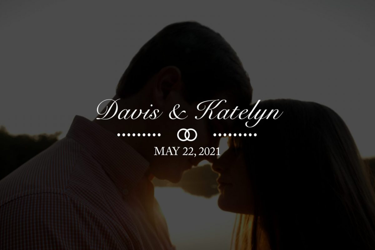 Davis and Katelyn's Save the Date