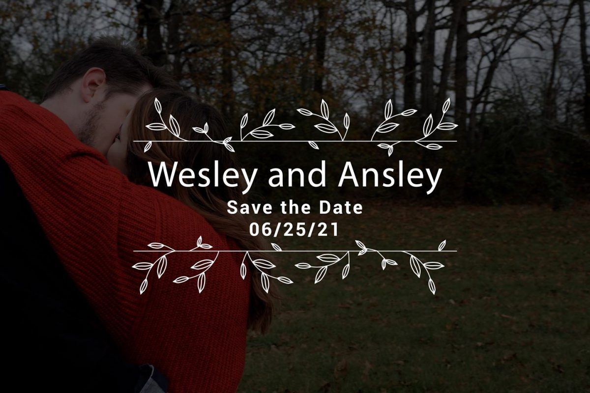 Wesley and Ansley – Save the Date